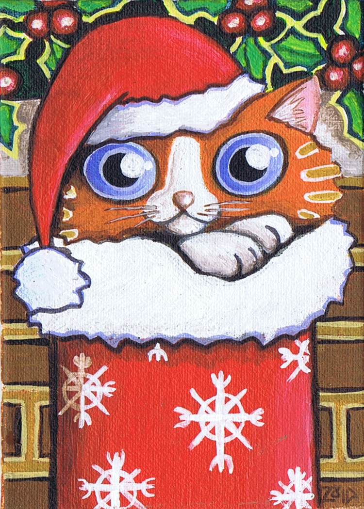 Xmas ginger funny cat by KingZoidLord