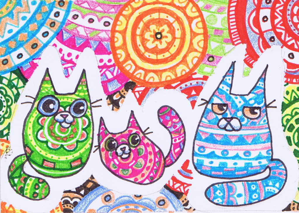 Funny Cat Patterns by KingZoidLord