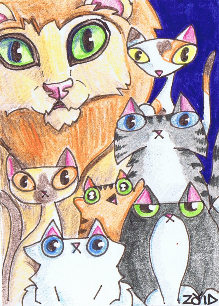 Funny cats buddies by KingZoidLord