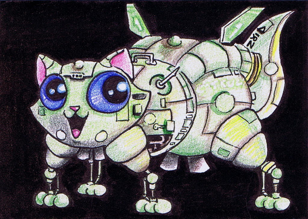 Funny cat is Starbug Red Dwarf by KingZoidLord