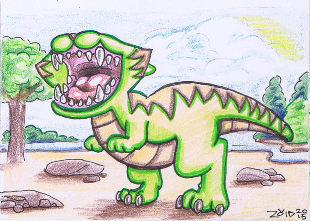 T-rex Funny Cat by KingZoidLord