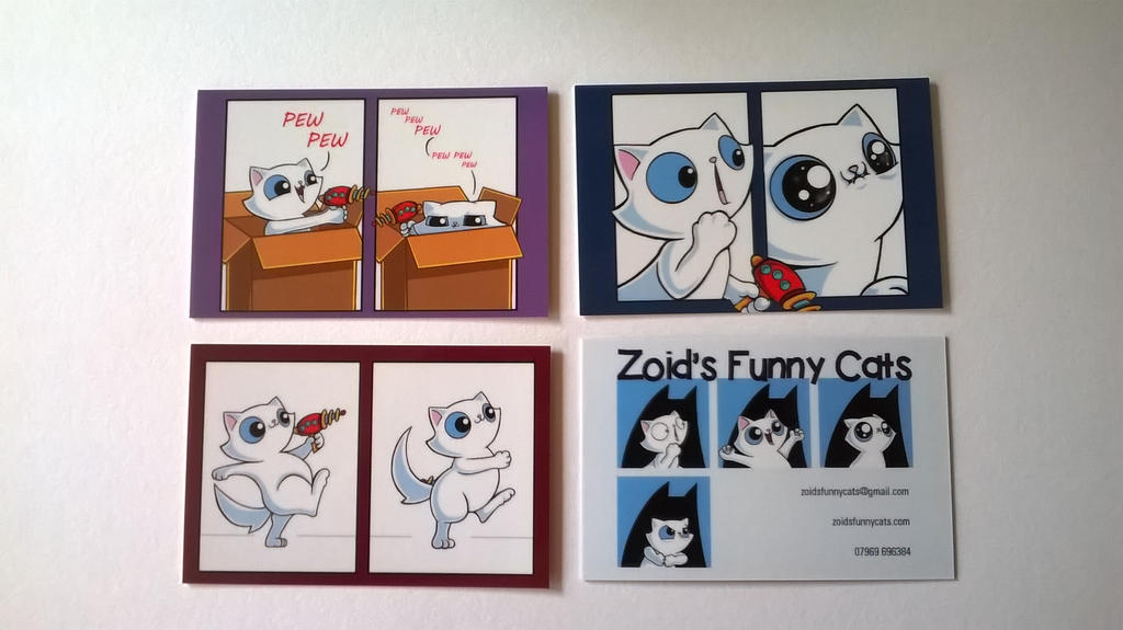 Zoid\'s funny cats collectible business cards! by KingZoidLord on ...
