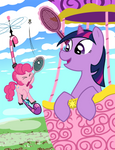 Badminton in the Sky with Ponies