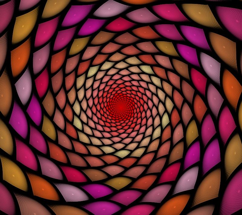 stained glass vortex
