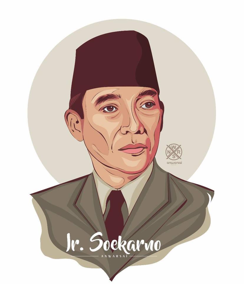 Ir Soekarno In Vector Art By Anwarsai On Deviantart