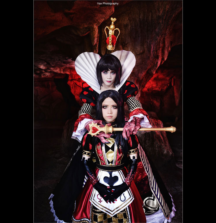 Alice and The Queen of Hearts by vaxzone