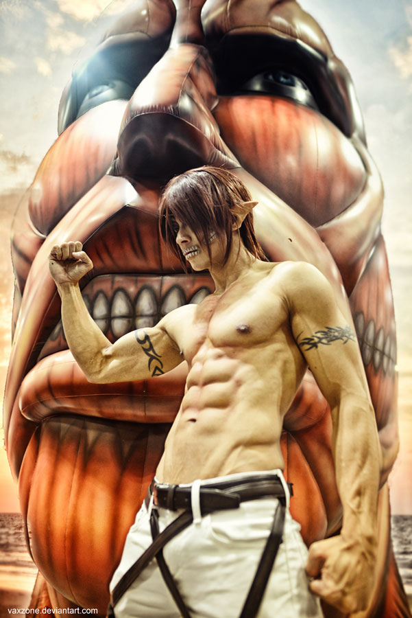 Attack on Titan - Eren in Titan form by vaxzone
