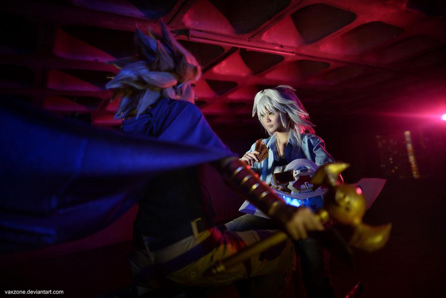 Yu-Gi-Oh - Yami Bakura duel with Yami Marik by vaxzone