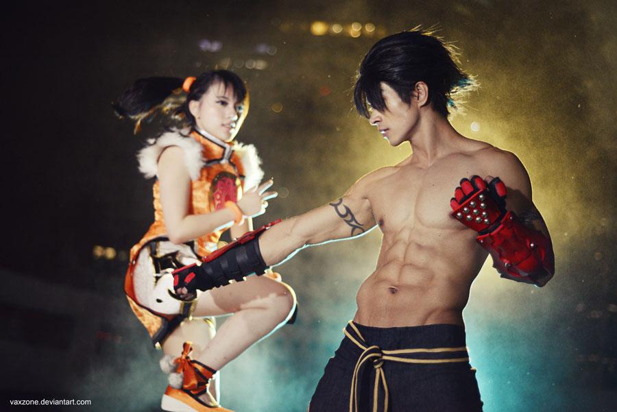 Tekken - Jin vs Xiaoyu by vaxzone