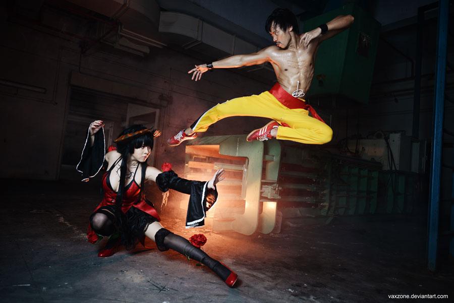 Tekken - Law vs Eliza by vaxzone