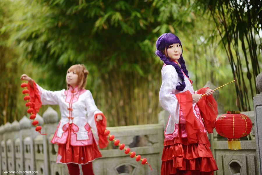 Sakura, Tomoyo and the Festival Season by vaxzone