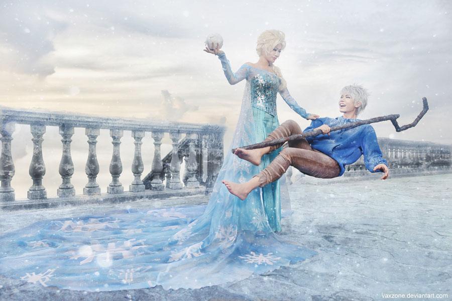Elsa x Jack by vaxzone