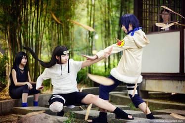 Naruto - Neji vs Hinata by vaxzone