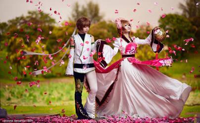 Tsubasa Chronicles - Sakura n  Syaoran by vaxzone