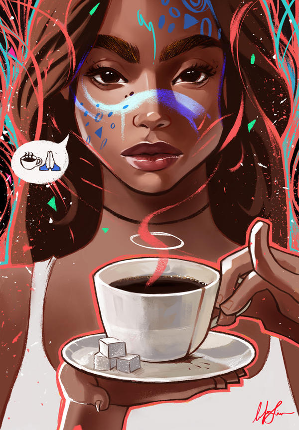 сетчатую рисование кофе женщина миру в награду дана нее даже