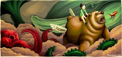 Flying trough Fantasy by thenerdyogre