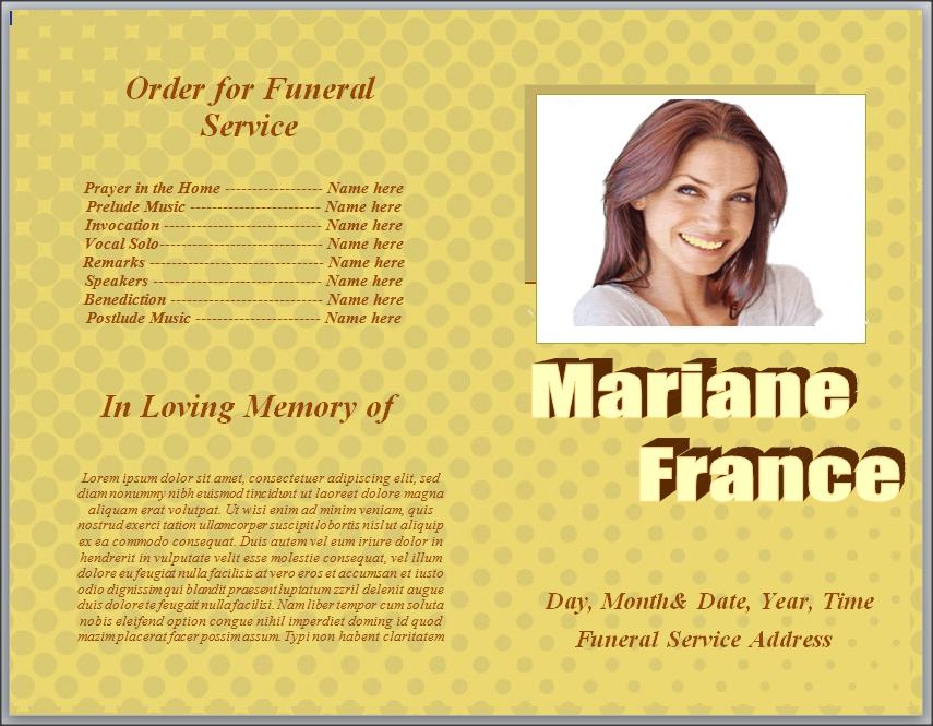 funeral brochure template word