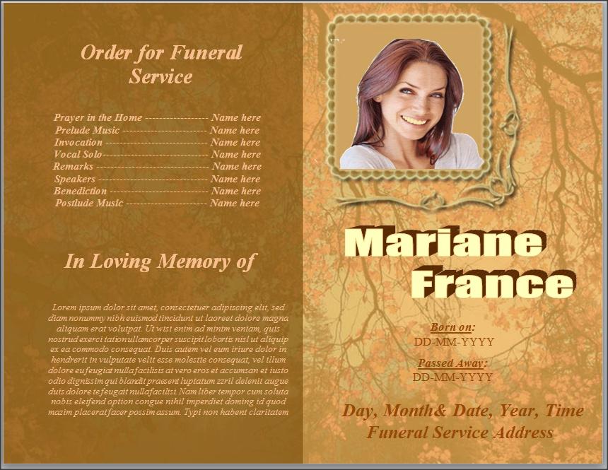 Program Template in Word Funeral Program Template