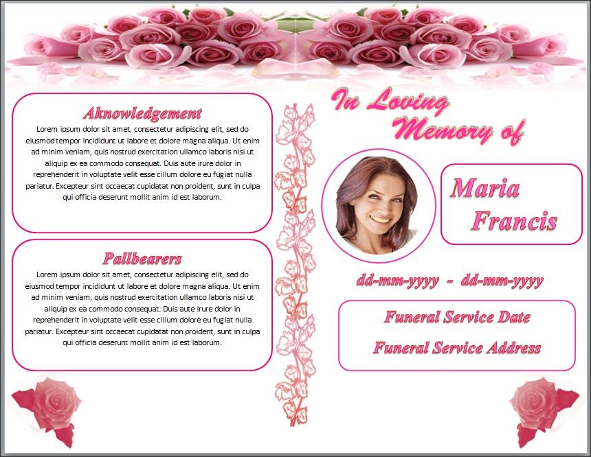 Memorial Brochure Template