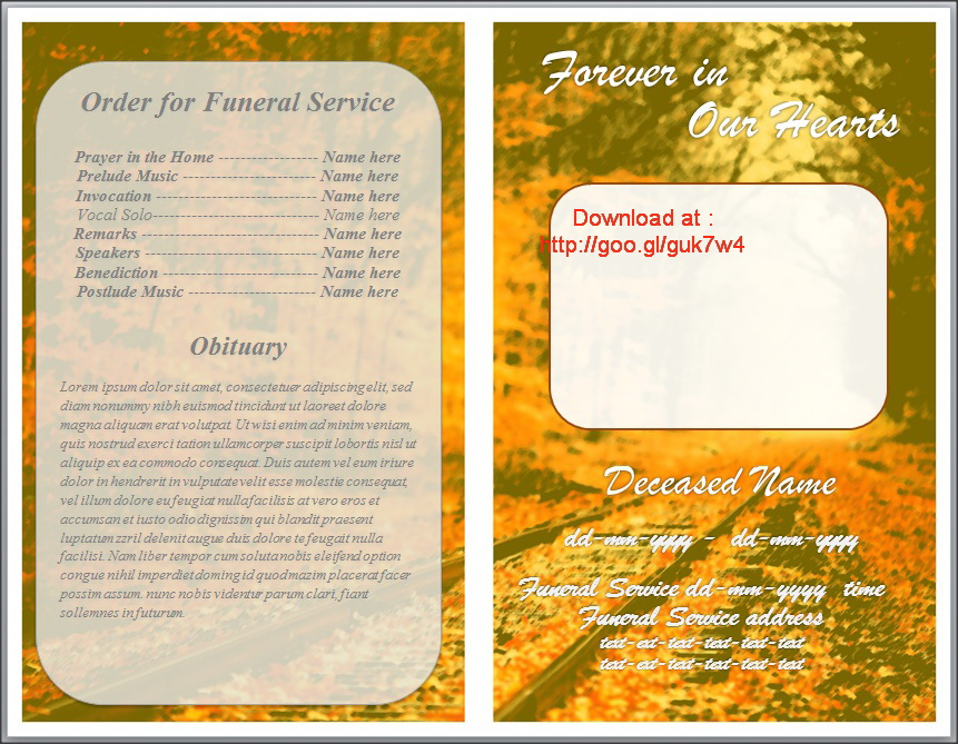 Funeral order of service program download for word by for Free downloadable funeral program templates