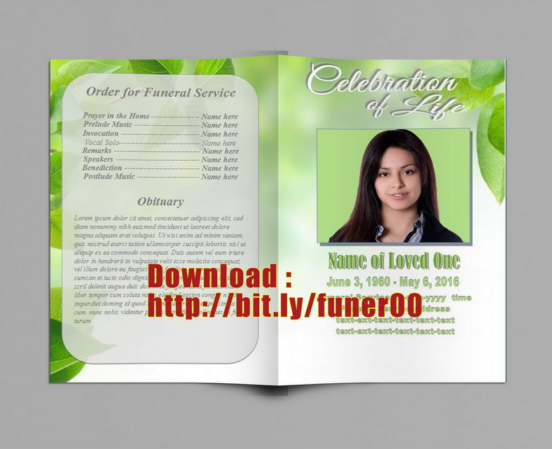 funeral program and memorial template ms publisher by sammbither