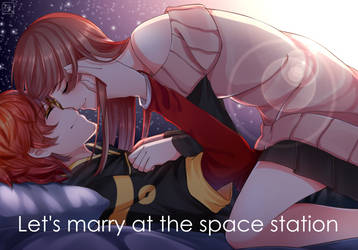 Let's marry at the space station by rabbityogurt