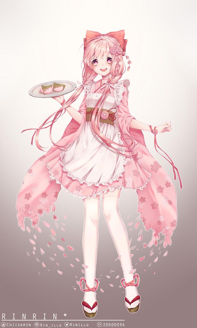 Food Fantasy: Sakuramochi by rabbityogurt