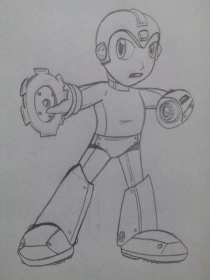 Megaman SSB4 by Agentwolfman626