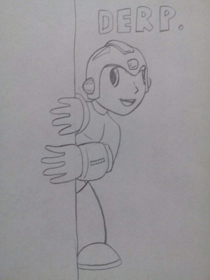 NES Megaman Derp by Agentwolfman626