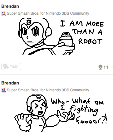Megaman Miiverse by Agentwolfman626