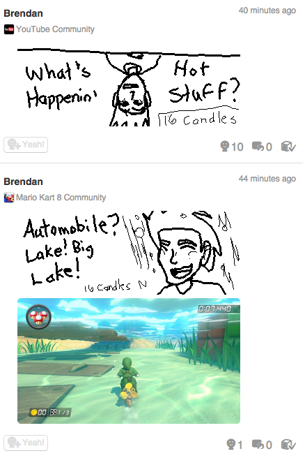 Miiverse - 16 Candles by Agentwolfman626