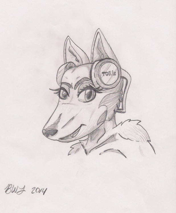 Headphones Dog by Agentwolfman626