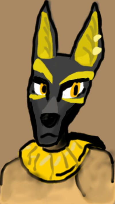 Anubis - Autodesk Sketchbook Mobile by Agentwolfman626