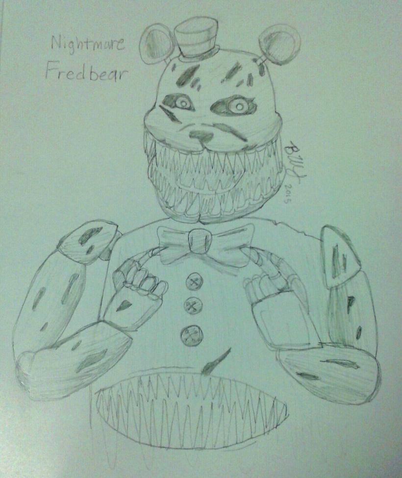 Nightmare Fredbear sketch by Agentwolfman626