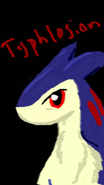 Phone Painting - Typhlosion  by Agentwolfman626