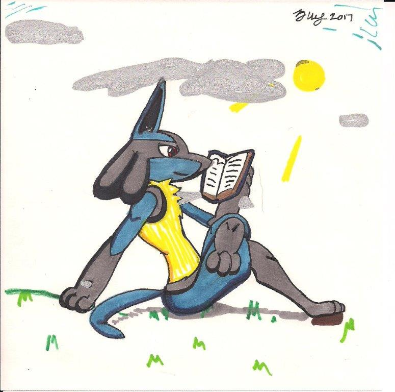 Reading Lucario (Gift for my mother's classroom) by ...