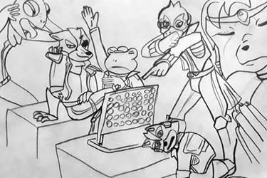 draw the squad - Star Fox by Agentwolfman626