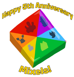 Mxls: Happy 5th Anniversary, Mixels! by ZootyCutie