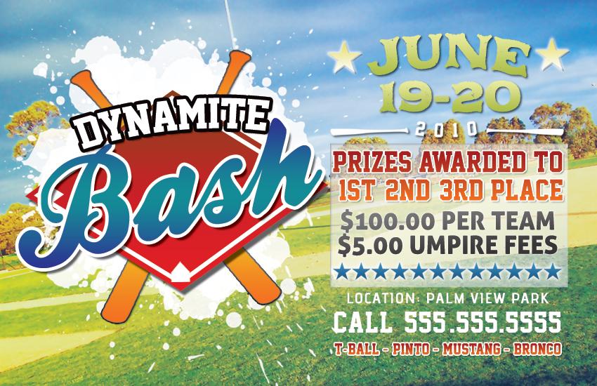 Baseball Competition Flyer Barearsbackyard