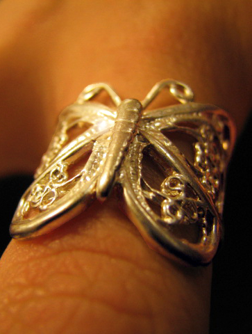 Butterfly Watch Ring