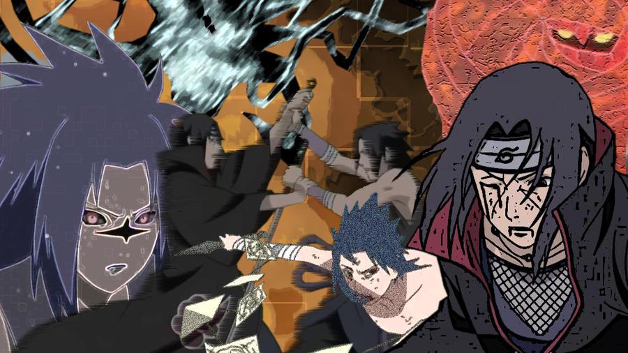 Cartoon Wallpaper Sasuke Vs Itachi Wallpaper: Sasuke Vs Itachi Art Desktop By PyroJohn19 On DeviantArt