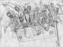 JP PEER_Sketch_Monkeys by jppeer