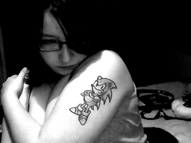Sonic tattoo by ~robotsixx on deviantART