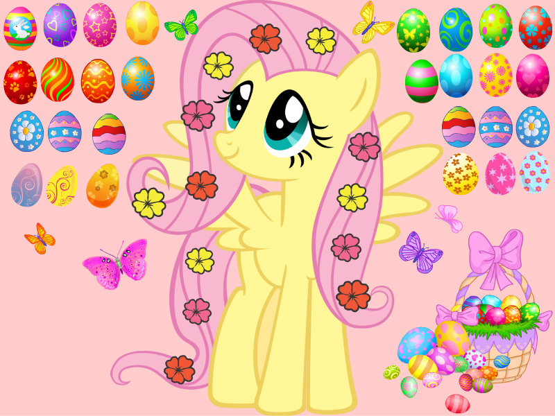 Happy Easter Fluttershy by FluttershyPony4444