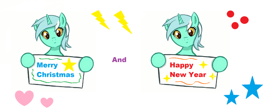Merry Christmas And Happy New Year by FluttershyPony4444