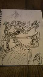 Lewa Vs. the Lehvak Swarm by comicsjh
