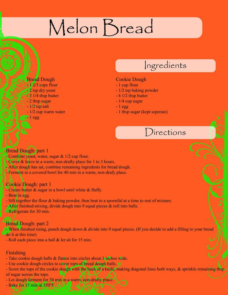 Melon Bread recipe by xXShadowKatXx