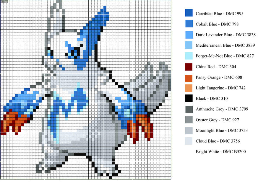 Shiny Zangoose Pattern by xXShadowKatXx