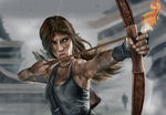 Lara Croft Digital Portrait