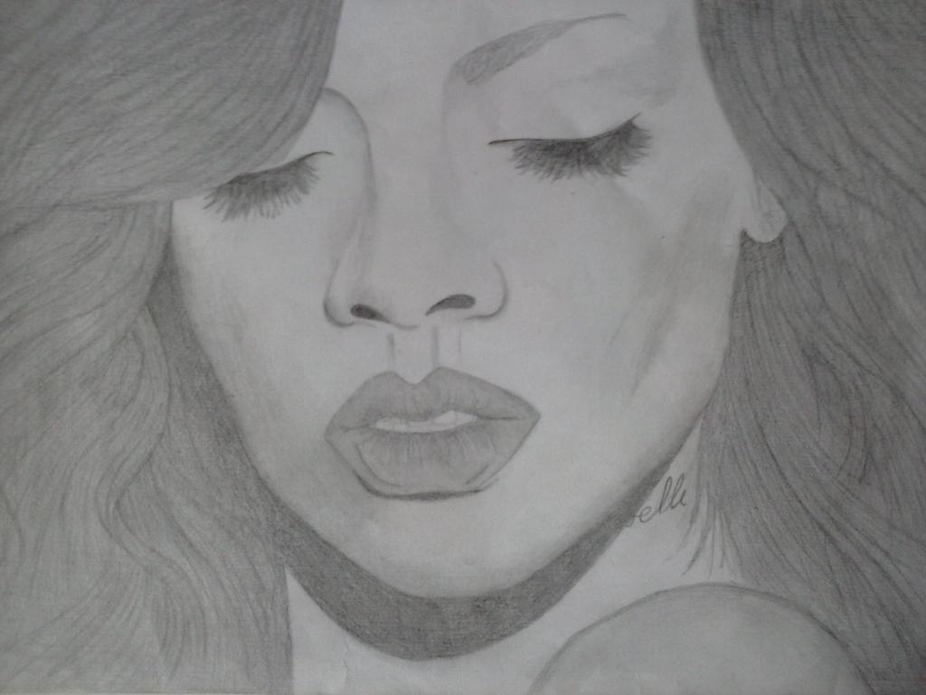 Rihanna Portrait By Maryshavh On Deviantart